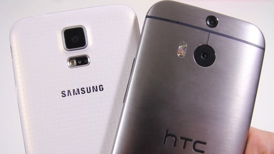 HTC One M8 vs. Samsung Galaxy S5+bun