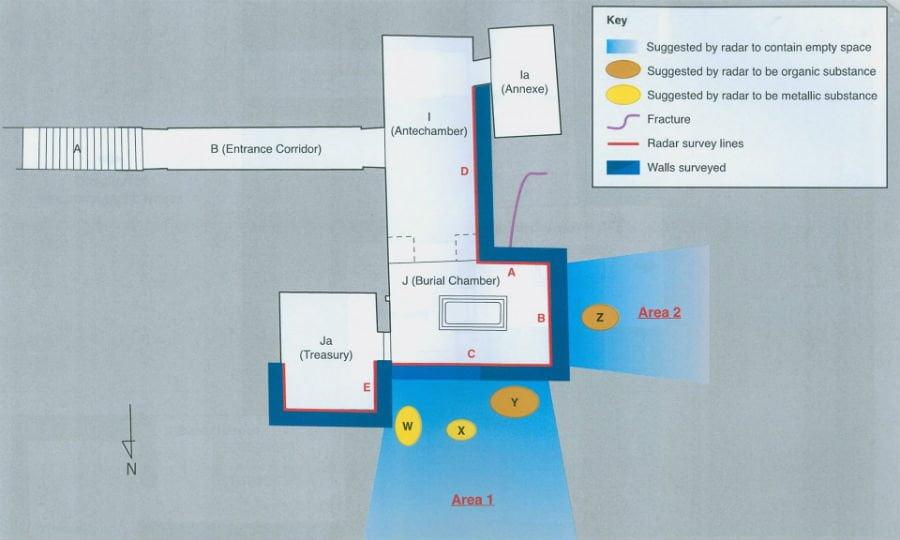 planul mormantului lui Tutankhamon