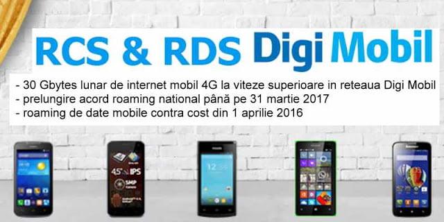 RCS-RDS oferă clienţilor 30 GB de internet gratuit în reţeaua Digi