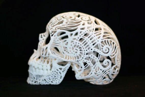 imprimanta 3D 3D-Printed-Skull