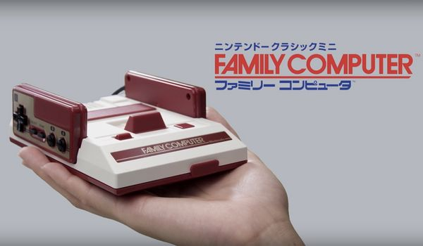 Nintendo mini Famicom. O consolă de jocuri ca în anii '80