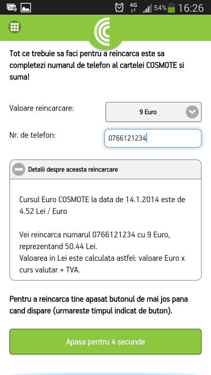 COSMOTE-Recharge