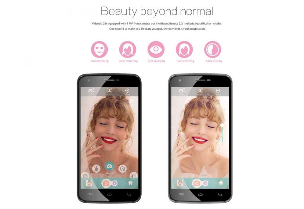 Doogee Y100 Plus software pentru selfie