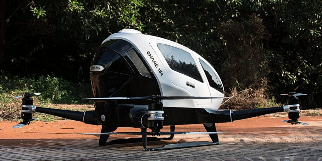 EHang 184, prima dronă din lume cu care poţi să călătoreşti