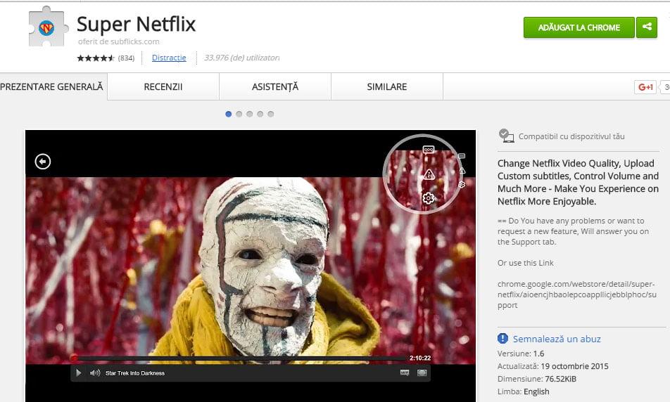 Cum să vezi Netflix cu subtitrare în limba română Super-Netflix