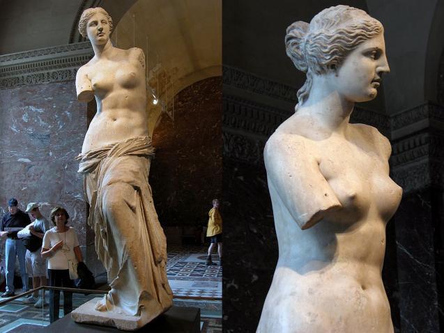 dimensiunea perfectă a sânilor venus-din-Milo