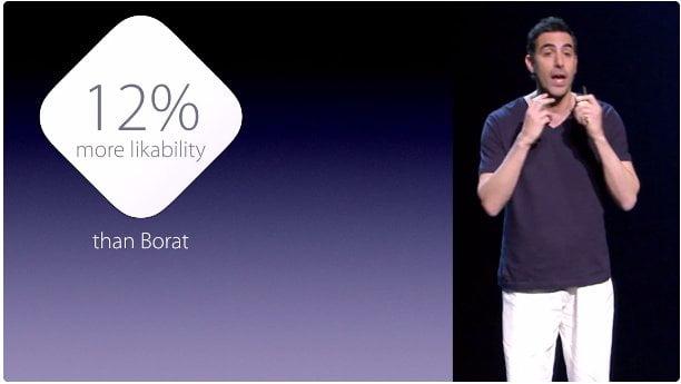Sacha Baron Cohen parodiaza Apple