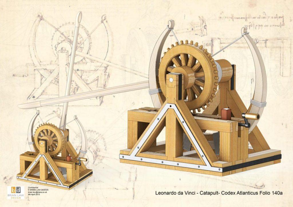 leonardo da vinci catapulta-lui-Leonardo-da-vinci