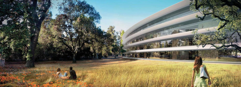 ozn-ul construit de apple rendering-apple-spaceship-campus