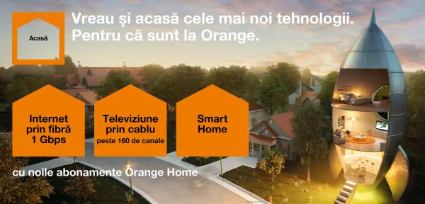 Orange Home. Providerul oferă, în premieră, internet şi TV pe fibră optică