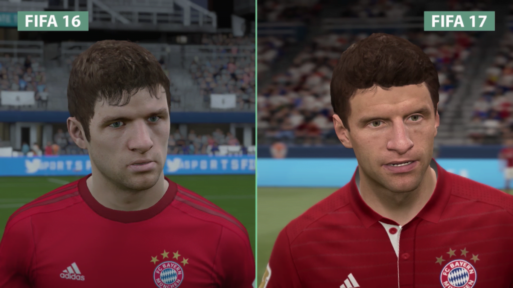 FIFA 17 and-players-look-much-closer-to-the-real-thing-just-take-this-example-of-bayerns-thomas-mller-in-fifa-17-compared-to-last-years-game