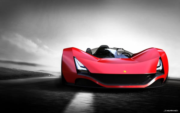 Ferrari Aliante. Cel mai spectaculos prototip al constructorului italian
