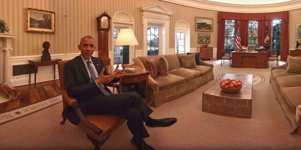 Vizitează Casa Albă, cu telefonul sau de pe laptop. Obama, într-un clip VR