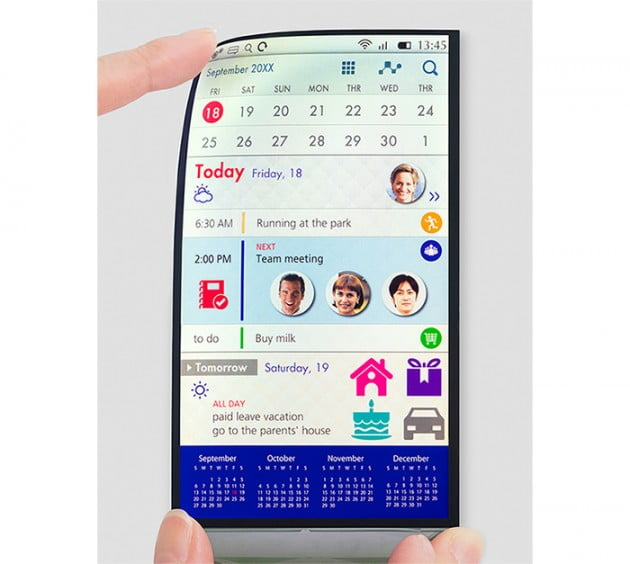 telefoanele flexibile ecran-flexibil-japan-display-gadgetreport