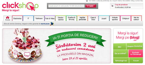 Telekom inchide ClickShop.ro