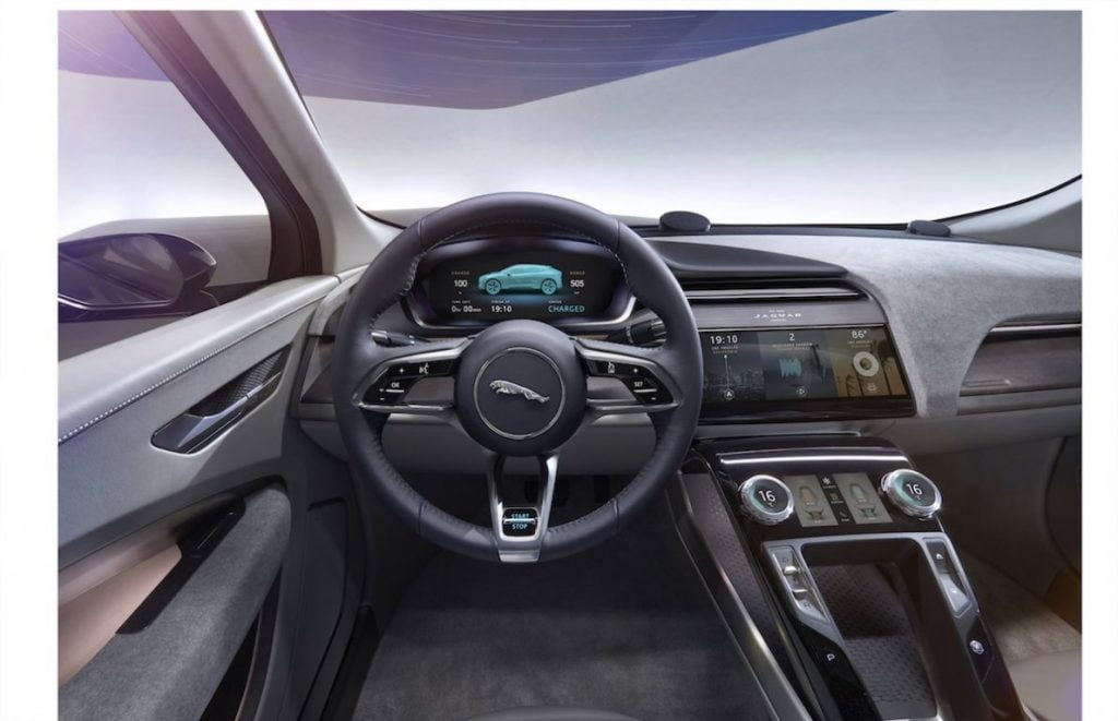 jaguar i-pace the-traditional-drivers-instrument-was-also-replaced-with-a-virtual-screen-that-can-be-controlled-using-buttons-on-the-steering-wheel-the-buttons-offer-haptic-feedback-when-in-use