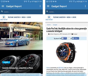 aplicaţii gadgetreport