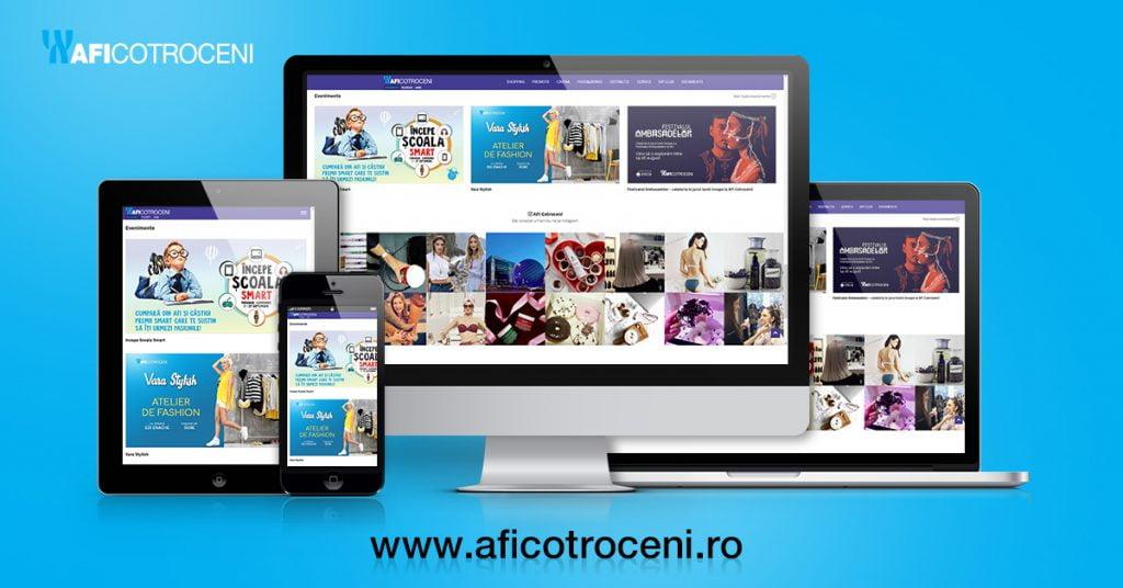 AFI Cotroceni are o nouă platformă online