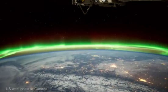 Noi imagini spectaculoase cu Aurora Boreala, filmate de Agenţia Spaţială Europeană