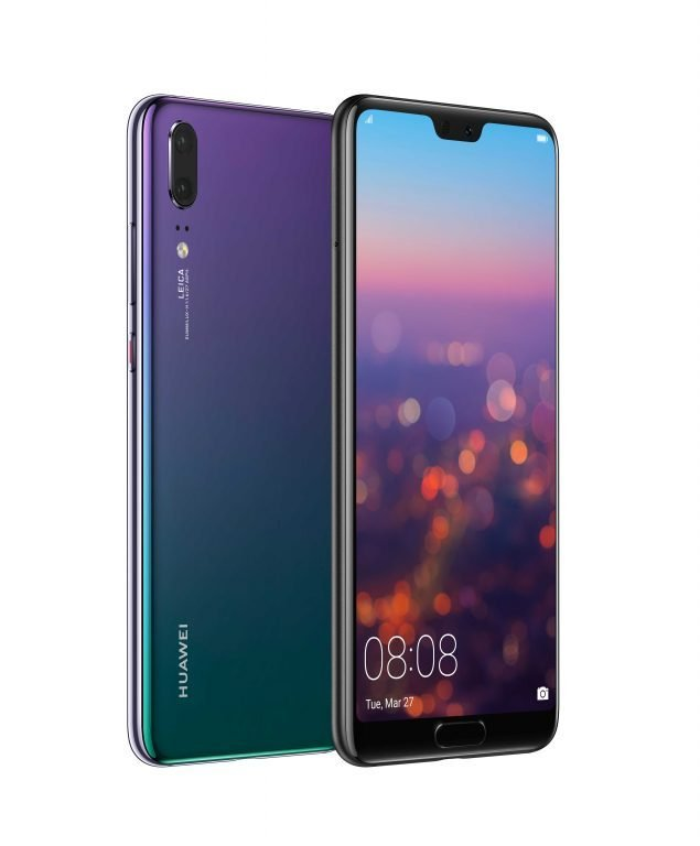 huawei p20 HUAWEI-P20-Twilight-Front-and-Back-635x768