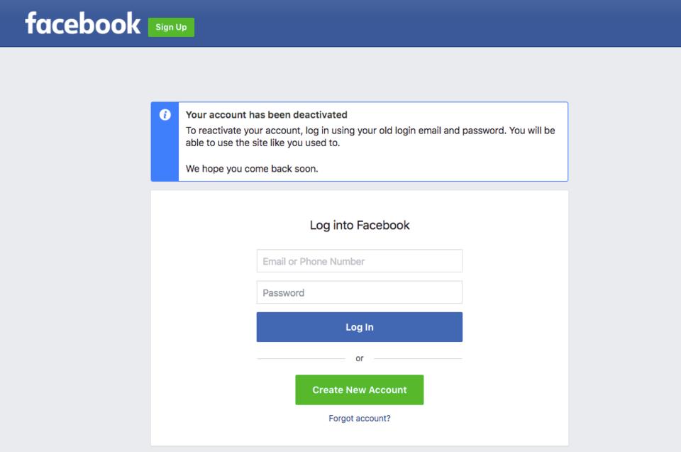 deletefacebook loginfacebook