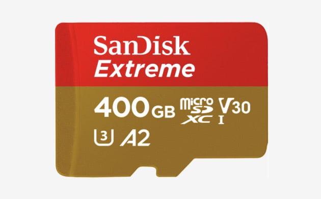 sandisk extreme uhs-i microsdxc sandisk-400gb-microsd-card-mwc-2018-model