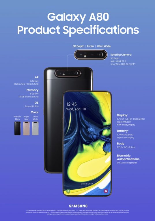 samsung a20e Galaxy_A80_Product_Specifications