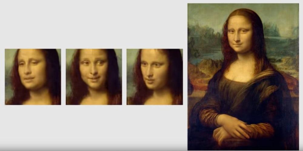 Mona Lisa, ,,înviată'' de Samsung cu ajutorul inteligenței artificiale