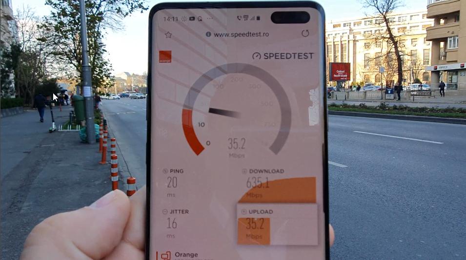 Am testat rețeaua Orange 5G. Viteza maximă atinsă, 635 Mbps, un adevărat record
