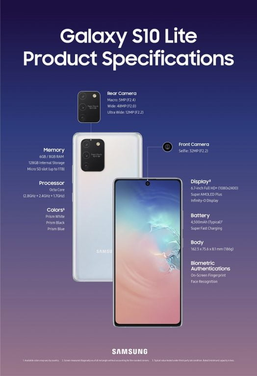 galaxy s10 lite Galaxy_S10Lite_Product_Specifications