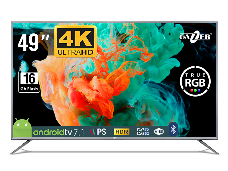 Gazer TV49-US2G. Un smart TV 4K cu Android, la 2300 lei