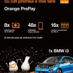 Clienţii Orange PrePay pot câștiga un BMW i3