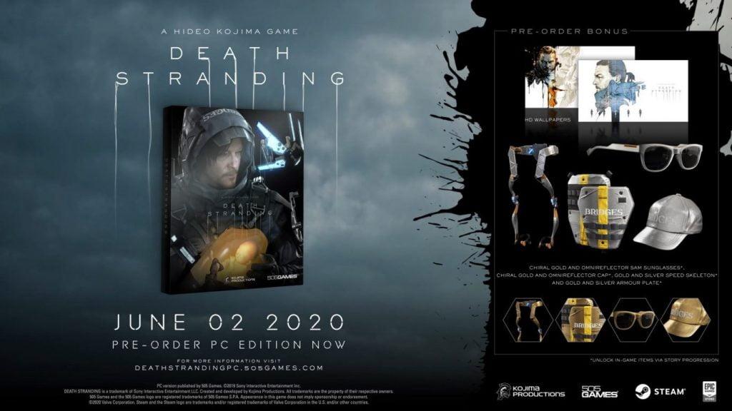 Bonusurile primite pentru varianta de PC a jocului Death Stranding
